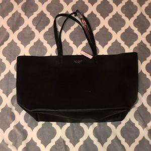 Victoria's Secret Black Leather Tote